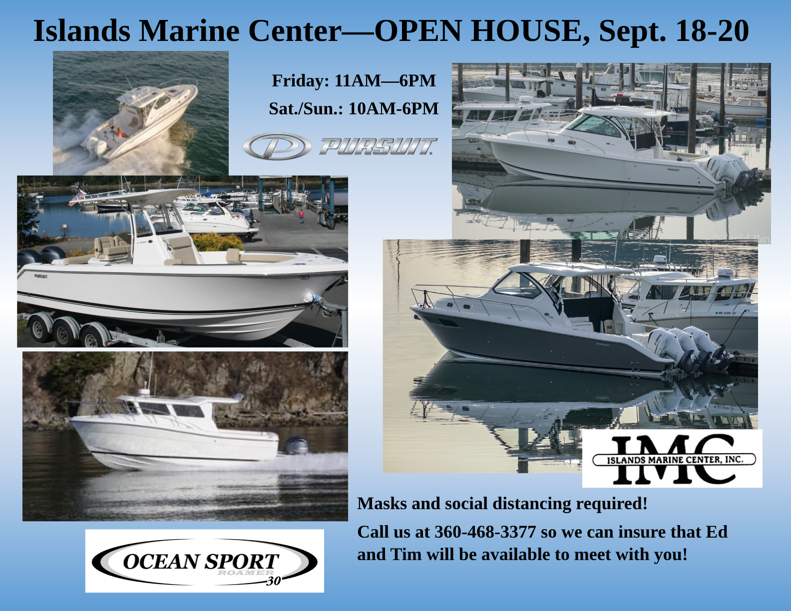 Islands Marine Center—OPEN HOUSE, Sept. 18-20